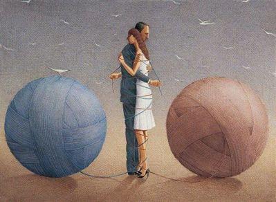 Философия в картинках Gurbuz-dogan-eksioglu-two-in-one-philosopher-artist-1